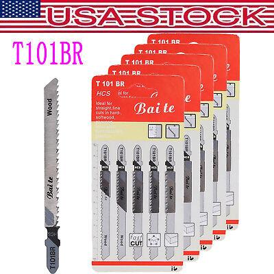 25PC T101BR Jigsaw Blades T-shank Design for Dewalt Bosch Makita Milwaukee&Other - Makita Shank Jigsaw