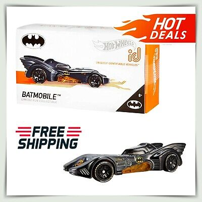 Car Toys For Kids (Hot Wheels ID Cars 1989 Batmobile Racing Vehicle Batman Kids Toys Collection)