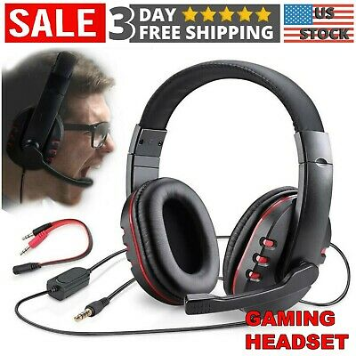 Gaming Headset with Mic Stereo Bass Surround Pro Gamer Headphone PS4 Xbox One PC