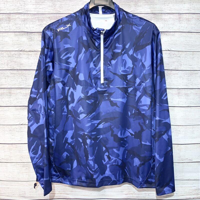 RLX Ralph Lauren Mens Golf Jacket Pullover Ivy Golf Club Blue Camo sz XL