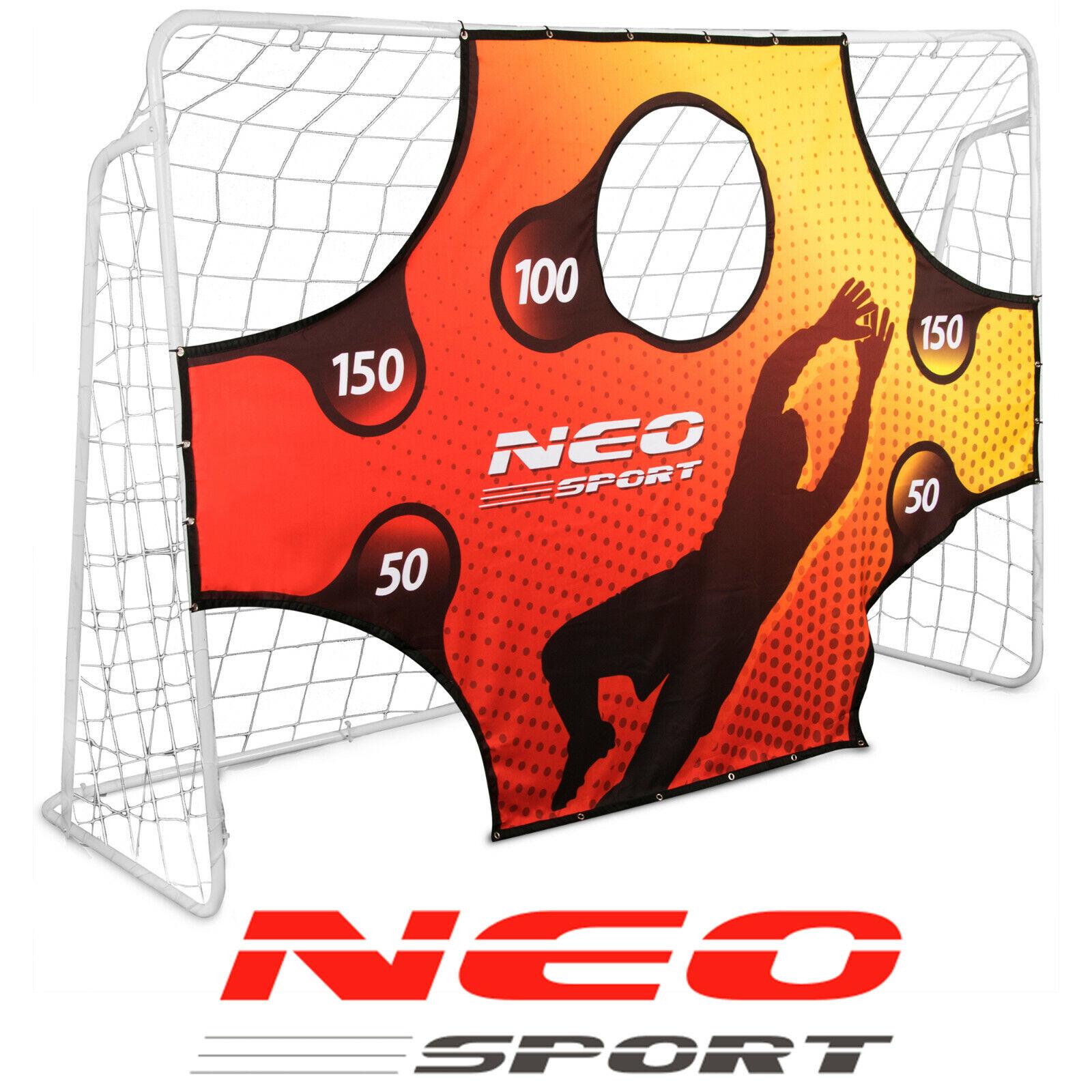 Fußballtor Fußball Training Torwand mit 5 Schusslöchern 300 x 200 cm Neo-Sport