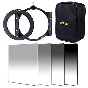 Grauverlaufs Filter Allmähliche Grau ND2+4+8+16t&77mm Ring+Filterhalter+16 Paket