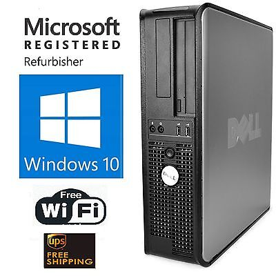 Fast Dell Desktop Computer Pc Core 2 Duo 3 0 Ghz 8Gb Ram 1Tb Windows 10 64 Wifi