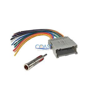 stereo wiring harness chevy ebay gmc wiring schematics car stereo radio wiring harness antenna for 2000 up buick chevy gmc pontiac