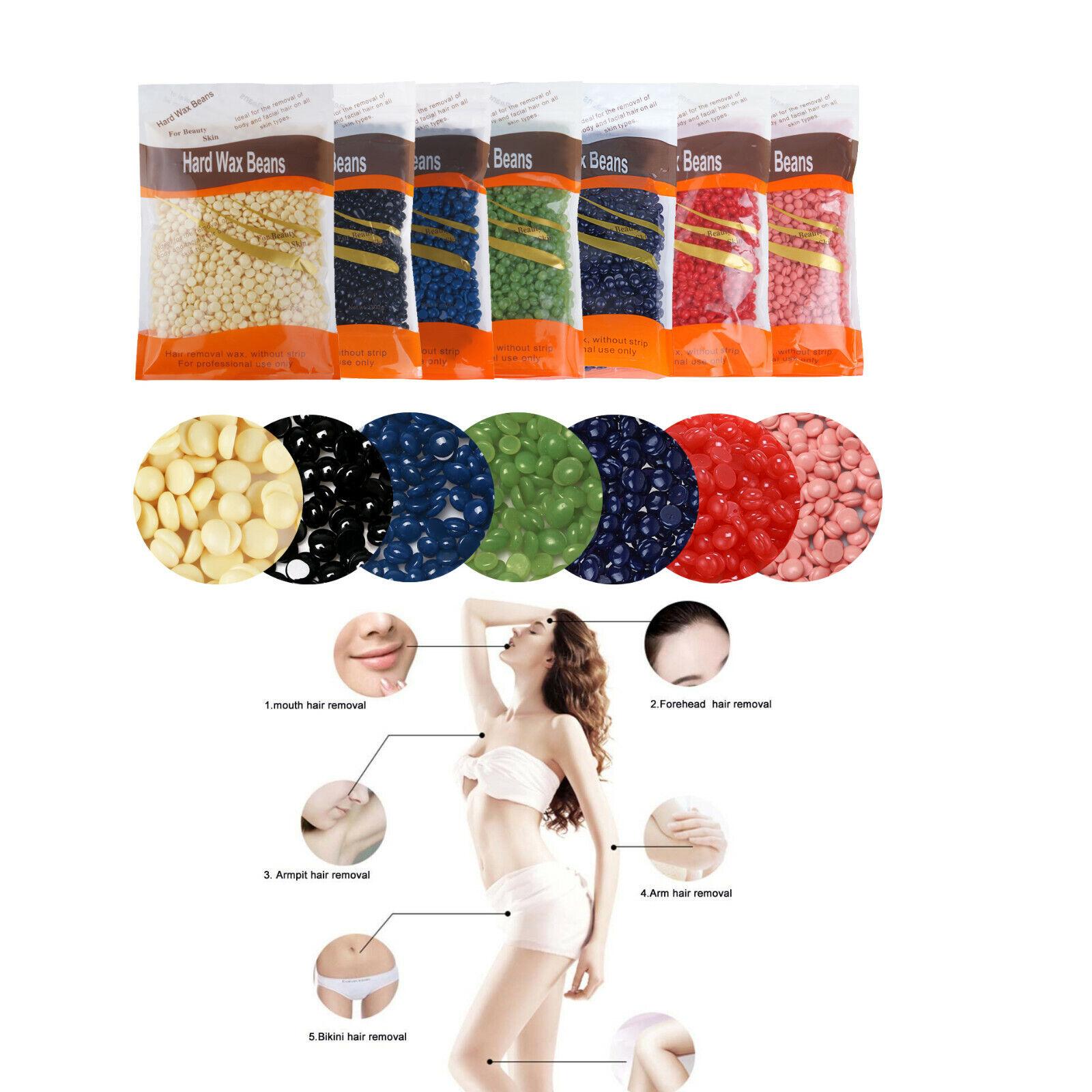 300g Hard Wax Beans Pellet Waxing Körper Haarentfernung Wachs Bohnen Heißwachs