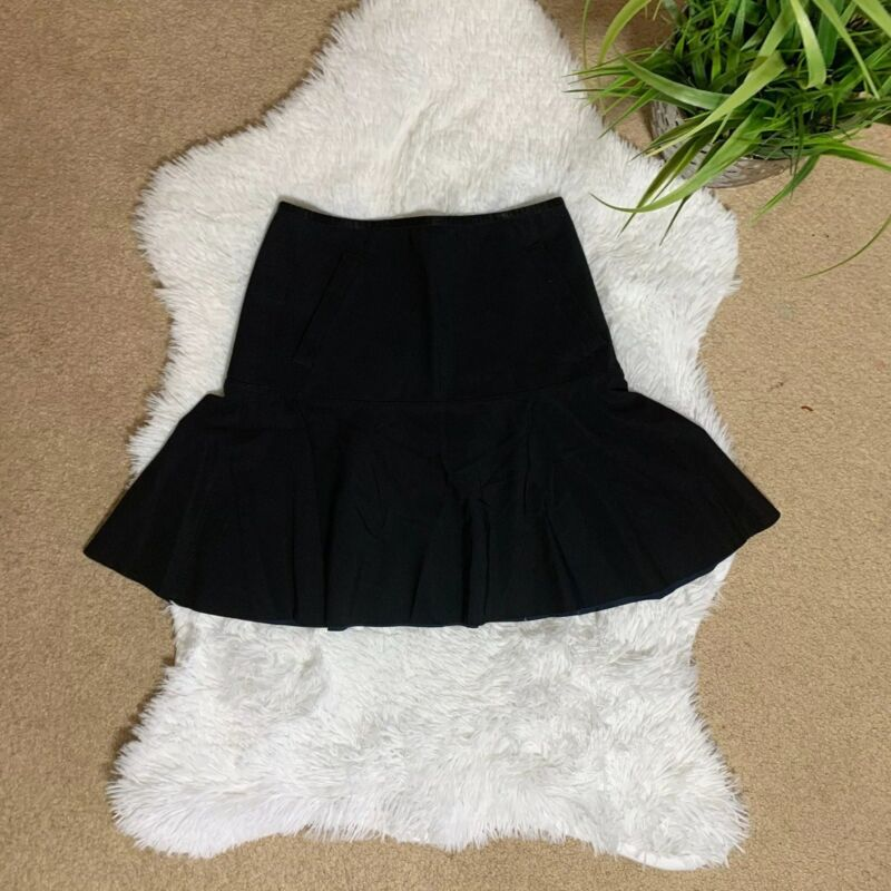 "Lululemon ""Get it on Skirt""  High Waist Back Zip Stretch Size 4 Black"