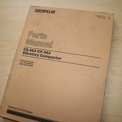 Cat Caterpillar Cs Cp-563 Compactor Roller Parts Manual Book List 8xf 1yj Series