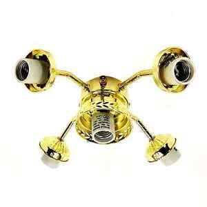ceiling fan light kit 5 lamp polished brass fitter 236. Black Bedroom Furniture Sets. Home Design Ideas