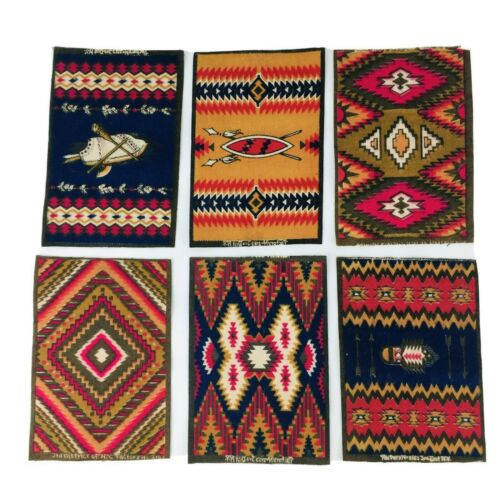 6 Antique Tobacco Felts Indian Rug Factory 2153 3rd District NY Double Side #C31
