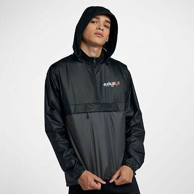 Mens Nike SB Anorak Packable Hooded Jacket Windbreaker 886110-010 NEW Sz L