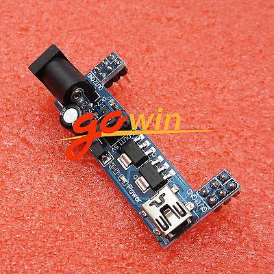 5pcs Mb102 Breadboard Power Supply Module 3.3v 5v Solderless Arduino Mini L1st