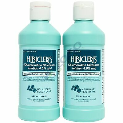 Hibiclens Antimicrobial Skin Cleanser - 8 Oz Bottle - Pack Of 2