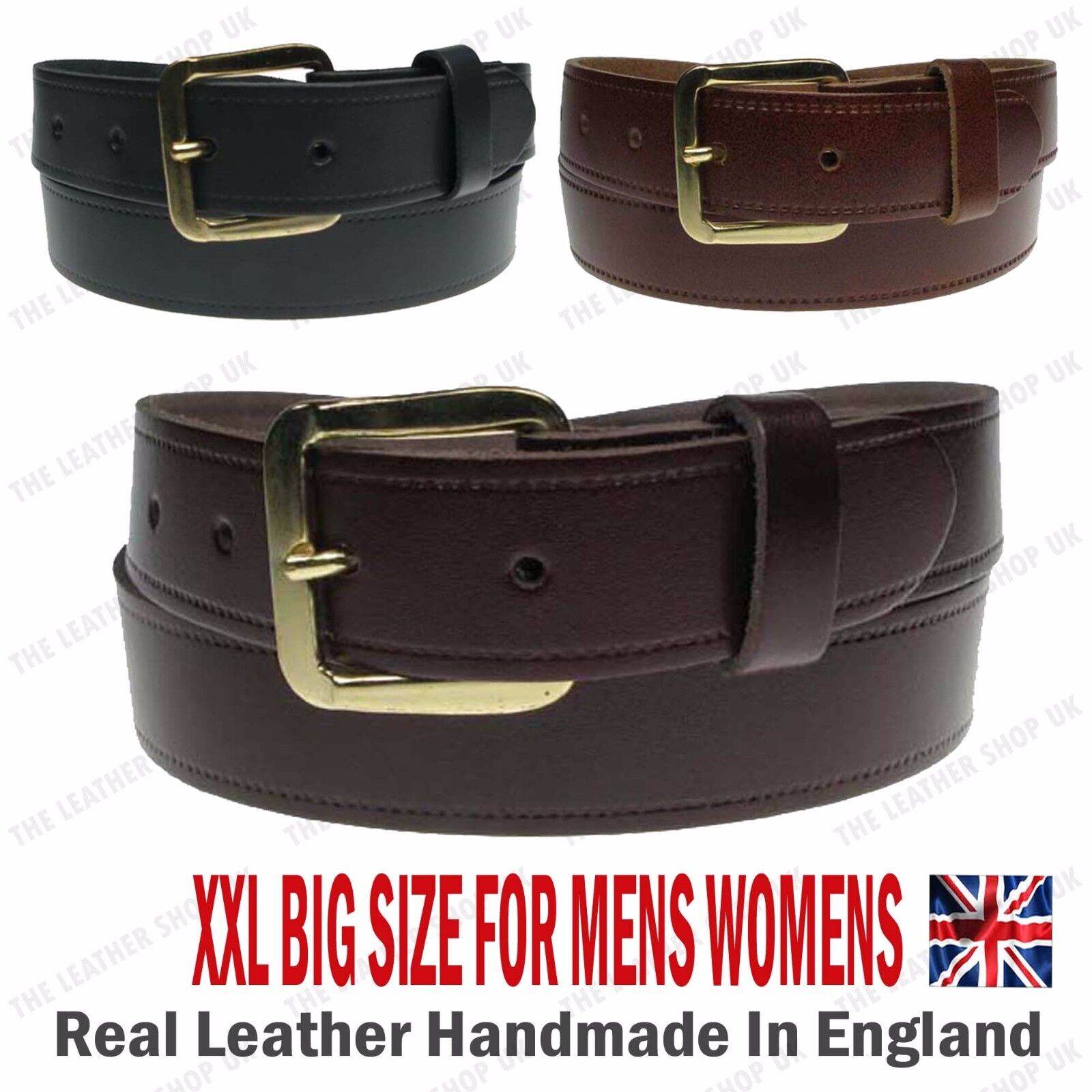 """30mm Wide Best Offer Mix Set Of Any 2 Belts 1.25/"""" Jeans Real Leather Made In UK"""