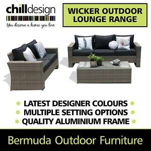 Clearance NEW Wicker Outdoor Lounge Table Armchair Furniture