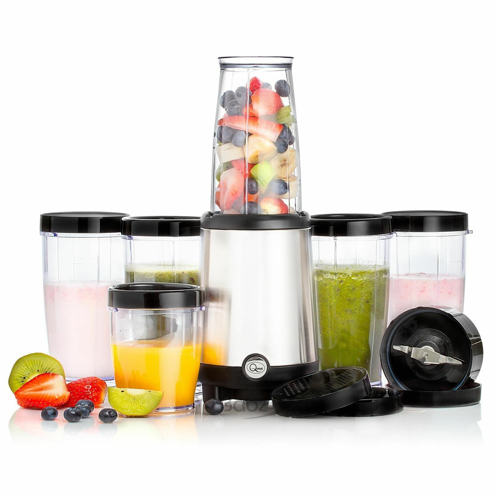 17 pcs fruit vegetable veg juicer blender chopper smoothie juicer juice maker ebay. Black Bedroom Furniture Sets. Home Design Ideas