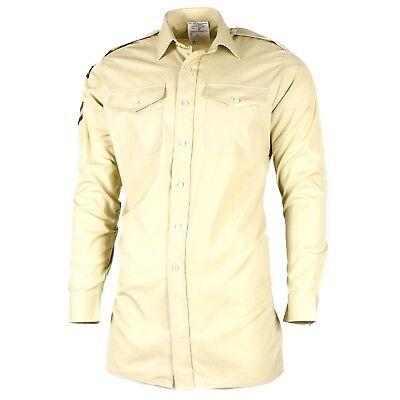 (Original British army Khaki shirts military surplus issue uniform dress )