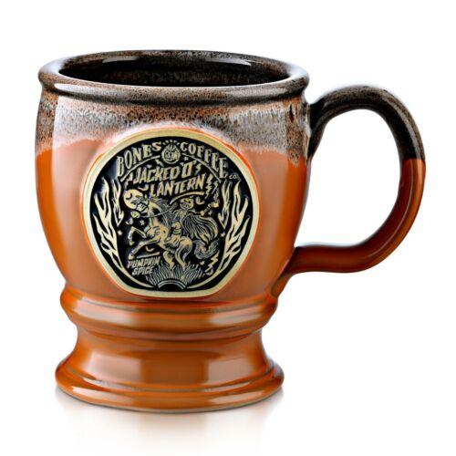 "BONES COFFEE COMPANY Co. ""JACKED O LANTERN"" Mug (Deneen Pottery) LIMITED"