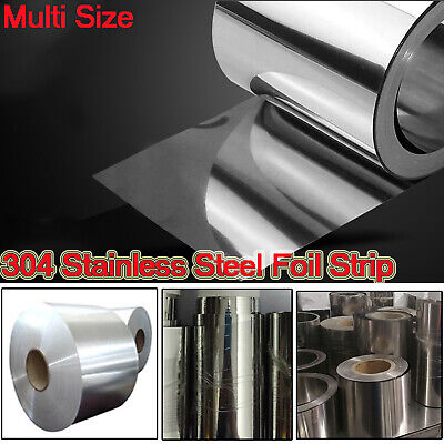 304 Stainless Steel Foil Sheet Metal Plate 0.005mm-0.4mm Thick Strip Panel 15m
