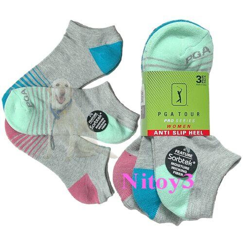 PGA Tour Pro Series Below Ankle Golf Socks-3/Pack Women One Size: 6½-9½