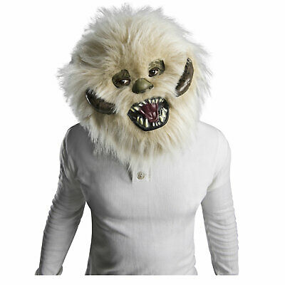 Adult Teen Star Wars Hoth Wampa Yeti Halloween Cosplay Costume Furry Face Mask - Hoth Costume