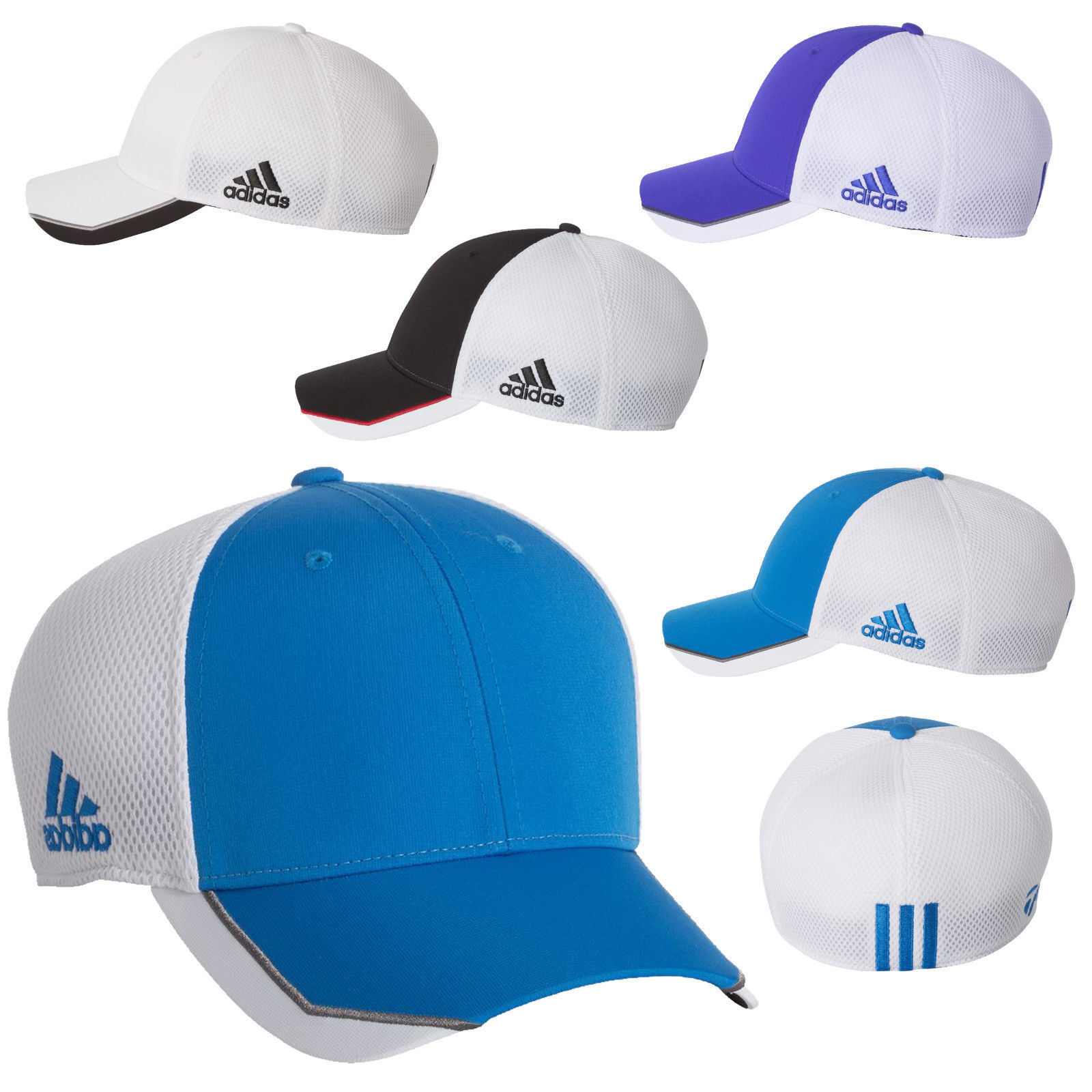 2f28301676ba7 Adidas Golf A620 CLIMACOOL Taylormade FLEXFIT FITTED Tour Mesh Cap Baseball  Hat