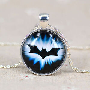 Charm DIY glass tile dome superman,Batman,Spider-Man picture pendant Necklace