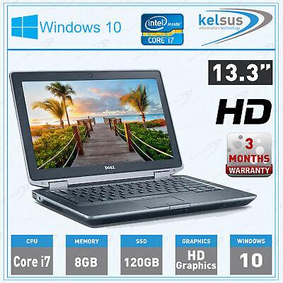 """DELL LATITUDE 13.3"""" E6330 LAPTOP WINDOWS 10 CORE i7 WEBCAM 8GB RAM 120SSD"""