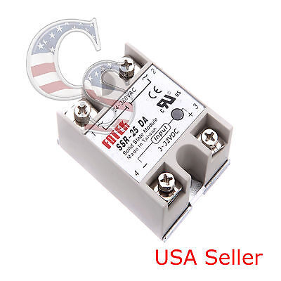 Output 24V-380V 25A SSR-25 DA Solid State Relay PID Temperature Controller