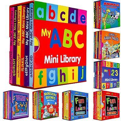 Alligator Preschool Learning 6 Children Mini Library Board Books