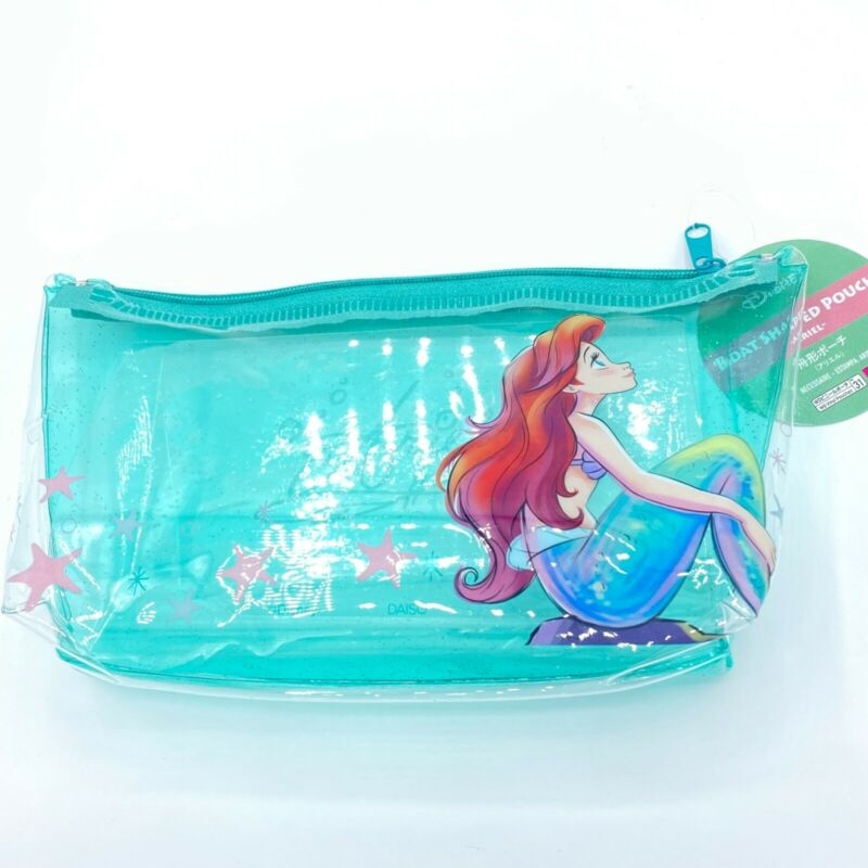 NEW NWT Disney Little Mermaid Ariel Glitter Jelly Makeup Pouch NEW w/TAGS!
