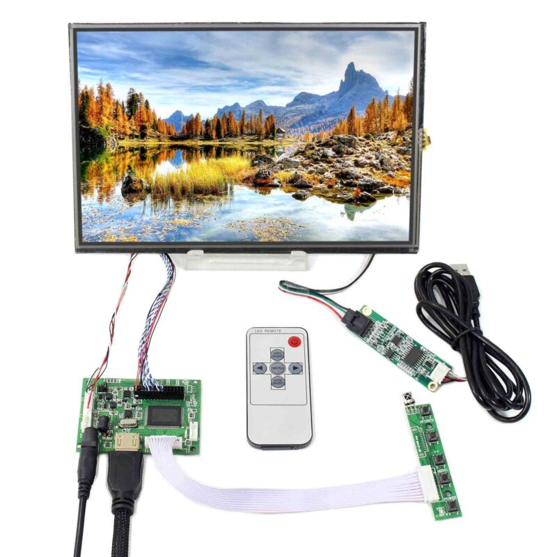 "HD MI LCD Controller Board 10.1"" IPS LCD Screen M101NWWB Resistive Touch Panel"
