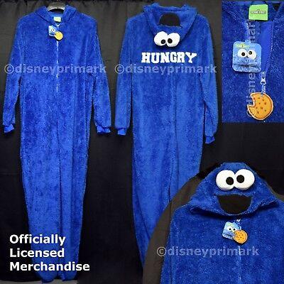 Suit Onesie Mens (OFFICIAL Mens COOKIE MONSTER ONESY Sleep Suit SESAME STREET Pyjamas XMas)