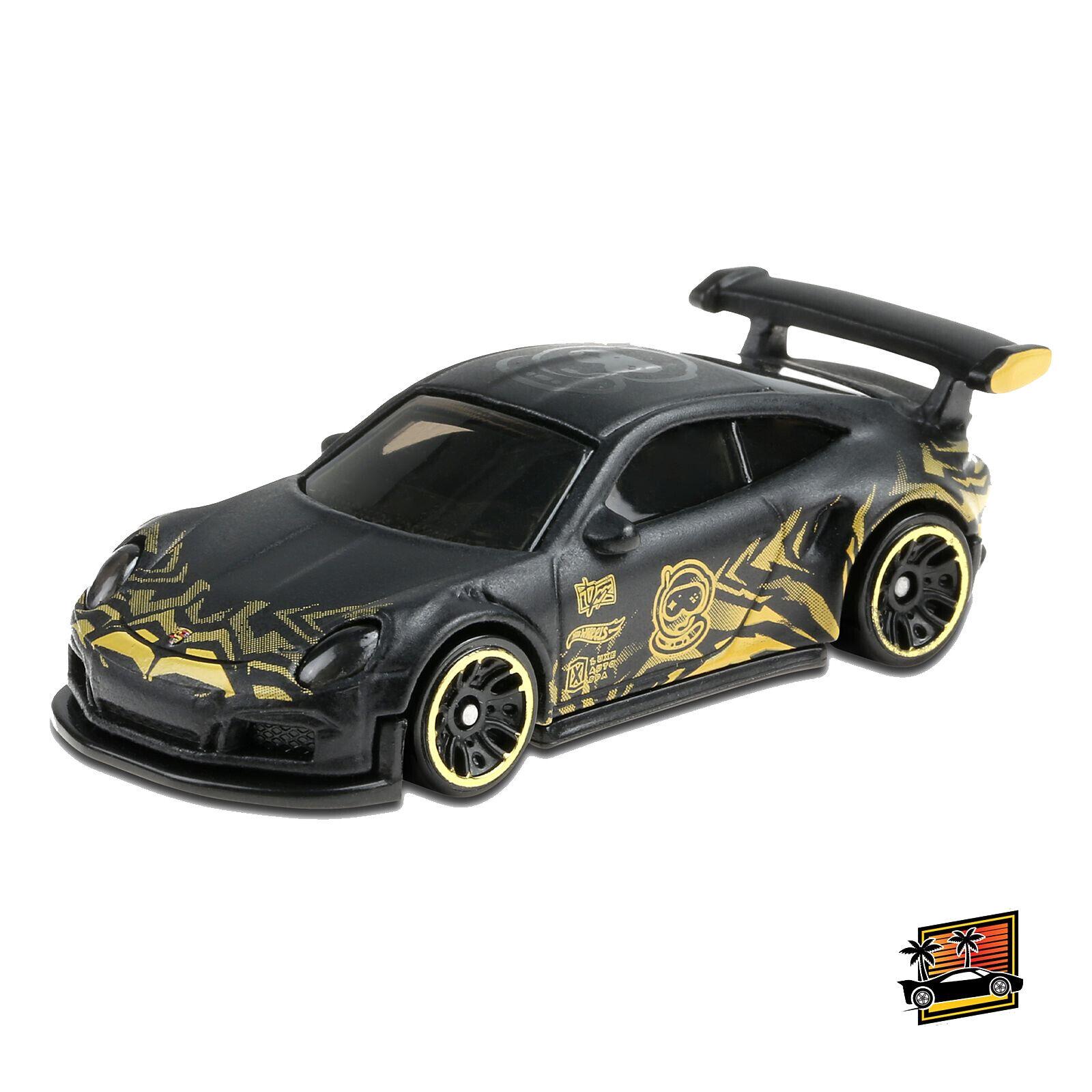 Tanner Fox Hot Wheels Black Porsche 911 Gt3 Rs Kids Model Diecast Toy Car Ghc30 Ebay
