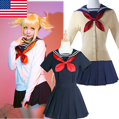 Cosplay Costumes For Women (My Hero Academia Himiko Toga Cosplay Costume Women School Sailor Uniform)
