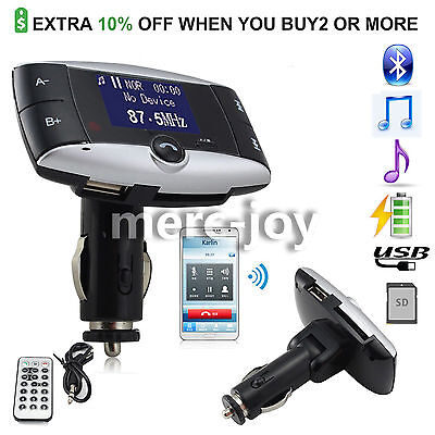 LCD Radio Car Kit USB Charger Bluetooth 4.0 Receiver Fm Transmitter Mp3 Player