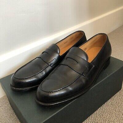 John Lobb Lopez Loafer UK 9 D US 10 Black Calf Leather £1000