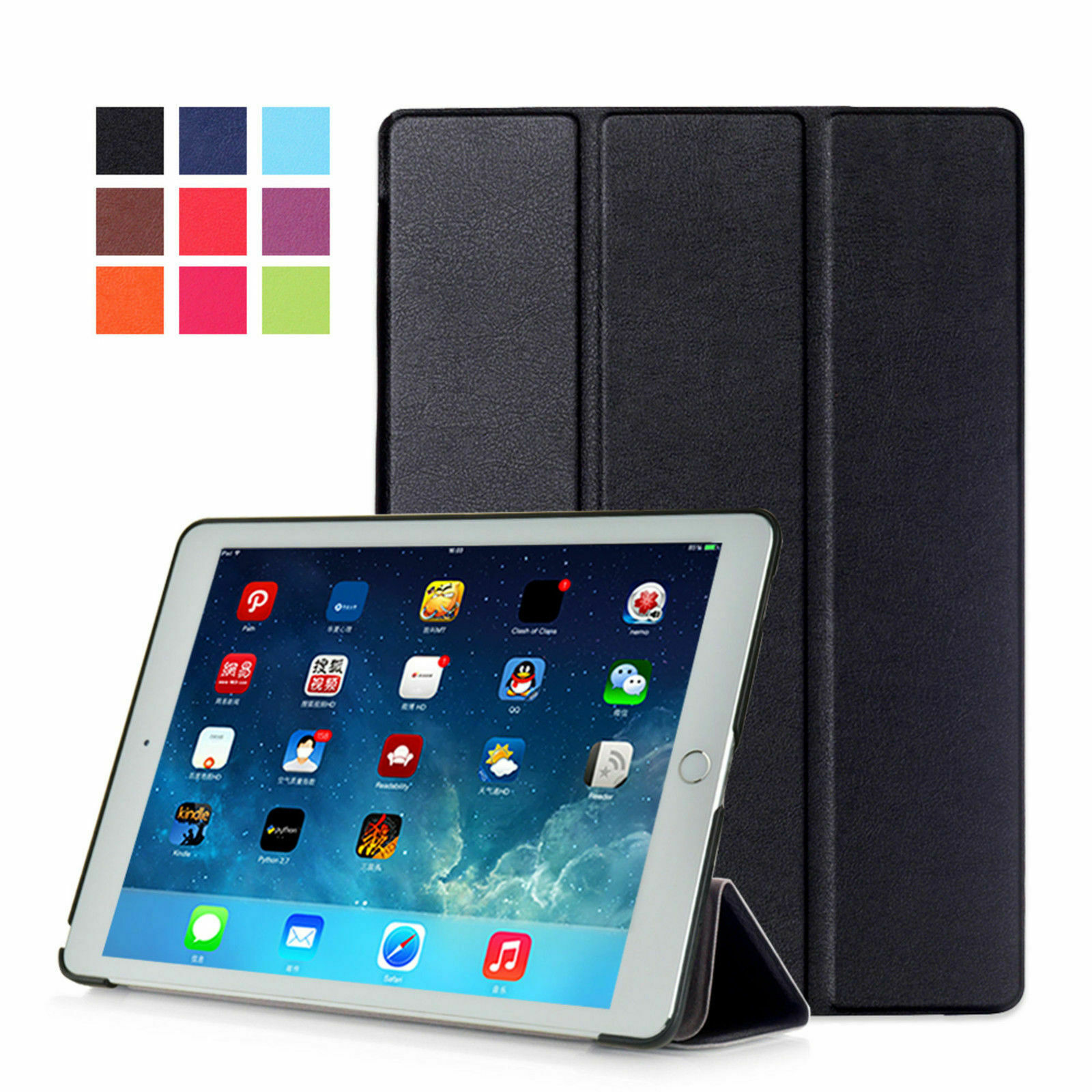 Case for Apple IPAD Air 2 9,7 Inch Case Smart Cover Book Cas