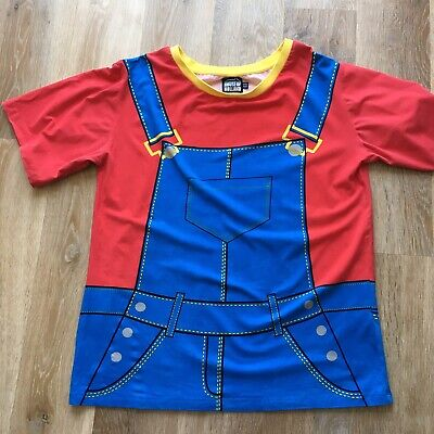 House Of Holland Oversized Tee Dungarees/ Pinafore Print UK8 Great Condition