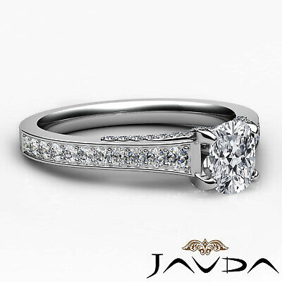 Bridge Accent Micro Pave Set Cushion Diamond Engagement Ring GIA H VS1 1.25 Ct 9
