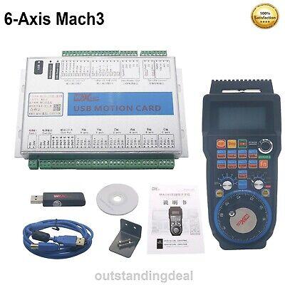 6-axis Mach3 Motion Controller Cnc Breakout Board 6-axis Wireless Mpg Handwheel