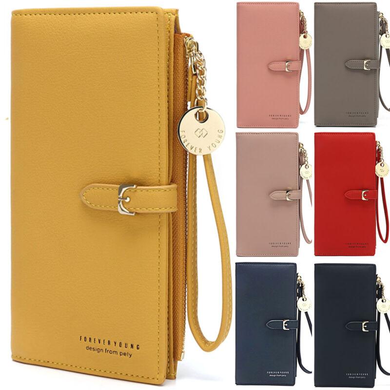 Ladies Womens Wallet Long Zip Purse Card Phone Holder Clutch