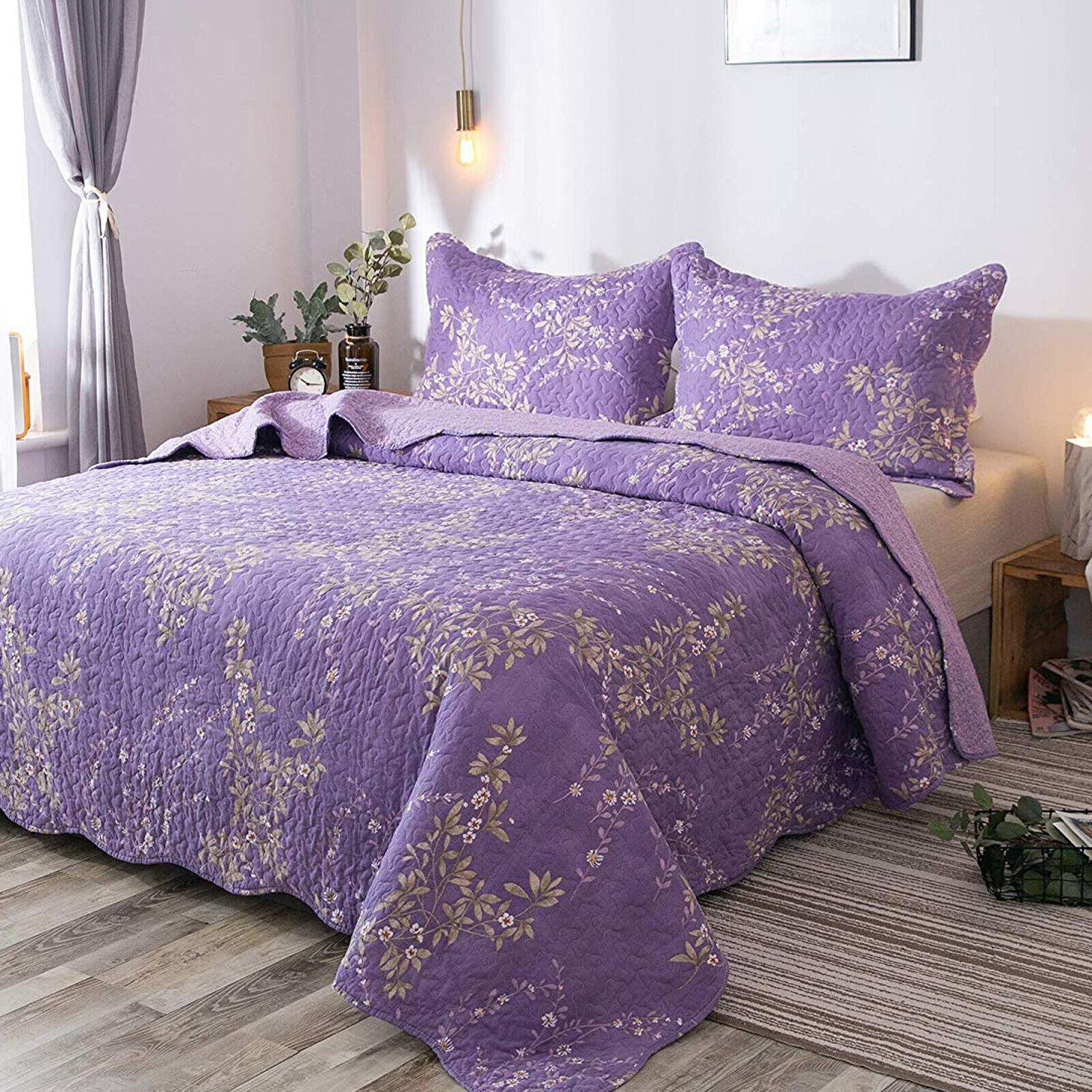 Luxury Floral Pattern Bedspread Printed Quilt Coverlet Blank