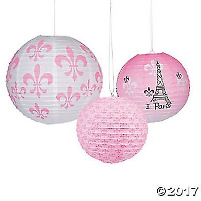 Paper Party Lanterns - PARIS Paper Lanterns PARIS PARTY EIFFEL TOWER DECOR Party Lanterns Room Decor