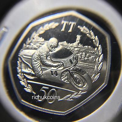 1983 T.T. Commemorative Diamond Finish 50p Coin