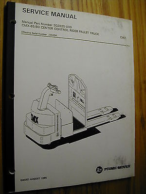 Bt Prime Mover Cmx-6580 Service Repair Manual Electric Rider Fork Pallet Truck