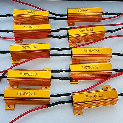10x 50W 6 ohm Load Resistor Fix LED Bulb Fast Hyper Flash Turn Signal Blink
