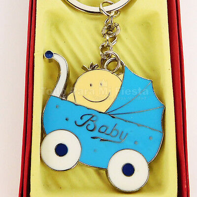 Baby Shower Favors Boy Carriage Boy Favors Keychain Key Chain Recuerdos Bebe 12 for sale  Shipping to South Africa
