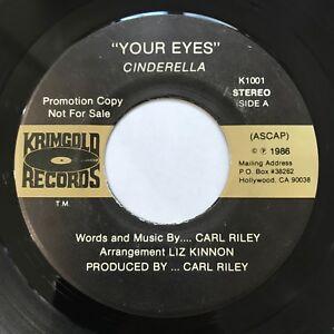 RARE MODERN SOUL BOOGIE Cinderella - Your Eyes / I'm Comin Back 45 1986 LISTEN!