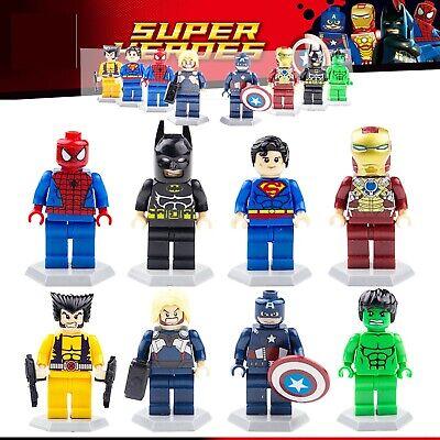 8 Super Heros Minifigures Marvel Avengers Endgame Batman Superman Figures