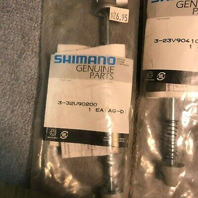Shimano Entry Level Bicycle F/&R Skewers Quick Release Front /& Rear Black